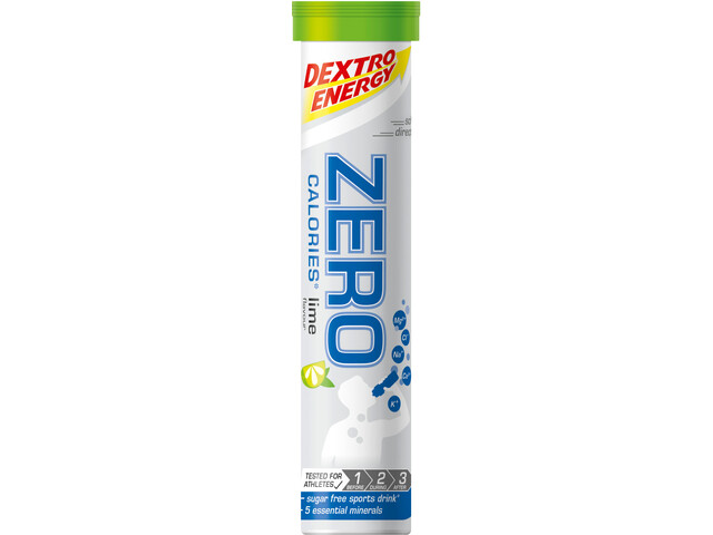 Dextro Energy Zero Calories Electrolyte Tabs 20 Pieces Lime